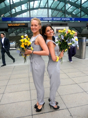 Brightening up the days for commuters in Canary Wharf