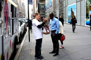 Our Pink Pin campaign for Google attracted a lot of attention in New York!!